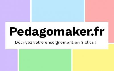 Pedagomaker.fr : décrivez votre enseignement en 3 clics !