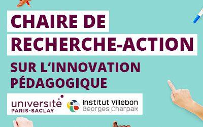 Ouverture de la chaire de recherche-action sur l'innovation pédagogique
