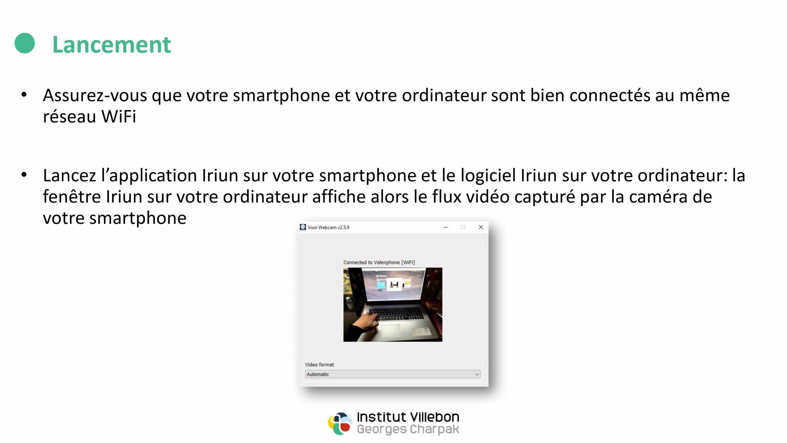 transformer son smartphone en deuxième webcam