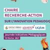Présentation de la chaire lors de la journée d'Initiatives Pédagogiques 2021 !